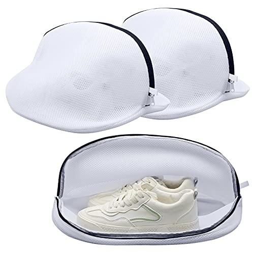 2 bolsas de lavandería con cremallera para zapatos o ropa interior, de malla transpirable de doble capa para lavadora, multiprotección para viajes de almacenamiento (L/S)