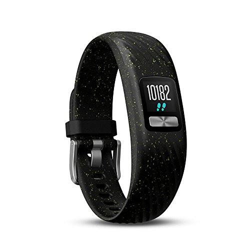 Garmin vívofit 4 Fitness Tracker, personalisierbares Farbdisplay, schlankes Design, bis zu 1 Jahr Batterielaufzeit , schwarz/grün , Small/Medium