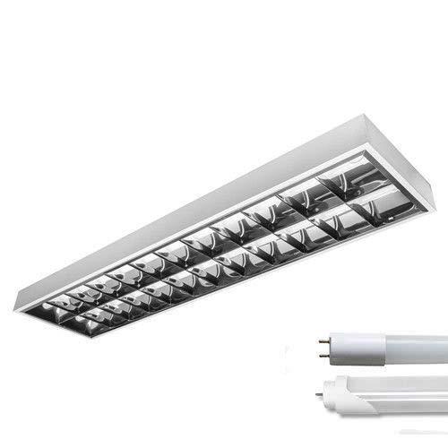 Set LED Rasterleuchte 2x150cm incl. 2 LED Röhren 6500K Tageslicht