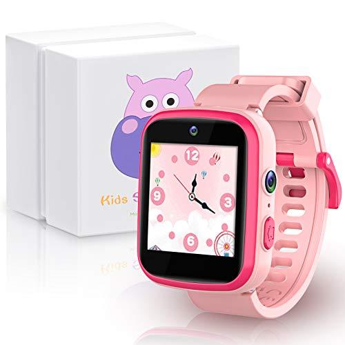 Smart Watch für Kinder mit Dual-Kamera, HD, Lernspielzeug, Geschenk zum Geburtstag, Weihnachten, für Jungen von 3 bis 10 Jahren, multifunktionale Smartwatch mit Touchscreen