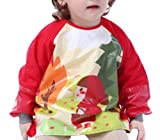 Happy Cherry - Impermeable Delantal Ropa Babero Infantil para pintar con mangas largas...
