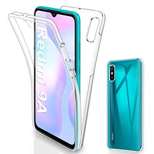 Gnews für Xiaomi Redmi 9A Hülle, für Xiaomi Redmi 9A Handyhülle 360 Grad Full Body Front Und Rückenschutz Handyhülle Transparent Schutzhülle Durchsichtige Bumper für Xiaomi Redmi 9A