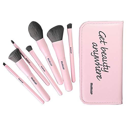 7Pcs maquillage brosse maquillage professionnel brosse lâche poudre Blush Poudre ombre à paupières brosse portable stockage