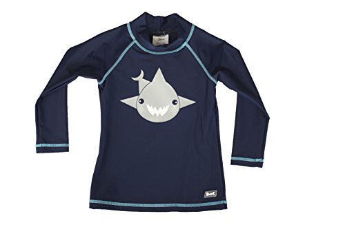 Baby Banz Camiseta Termica Manga Larga ANTI-UV Azul, 8 años.