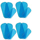 12 pcs Gel Pads Replacements for EMS ABS Hips Trainer Buttock Muscle Massage Replacement Gel Sheets,Special for EMS Butt Muscle Trainer, Butt Toner,Buttocks Trainer Accessories (3 PCS/Set,4 Sets/Pack)