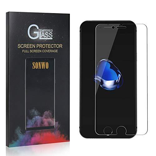 SONWO Panzerglas Schutzfolie für iPhone 6S Plus/iPhone 6 Plus, 4 Stück Anti-Kratzen Displayschutzfolie für iPhone 6S Plus/iPhone 6 Plus