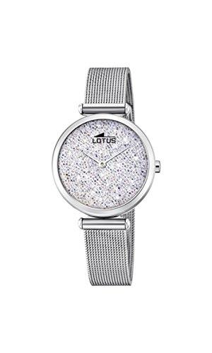 Lotus Watches Reloj Análogo clásico para Mujer de Cuarzo con Correa en Acero Inoxidable 18564/1