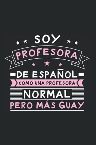 Maestro Castellano Colegio - Profesor Español Cuaderno De Notas: Formato A5 I 110 Páginas I Regalo Como Diario Planificador O Agenda