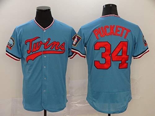 Camiseta De Béisbol para Hombre, Twins 34 Kirby Puckett 22 Miguel Sano Aficionados Y Aficionados Uniformes De Béisbol, Camisetas, Uniformes De Juego, Camisetas Deportivas