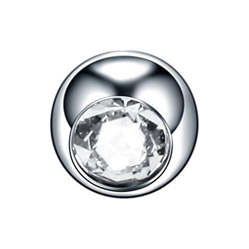 XJYWJ 10個入りチタンクリスタル交換用ボール16G 14Gノーズリップ乳首ブロウピアス舌リングベリーピアスアクセサリーボールイヤリング女性 (Color : Light, Size : 14G 1.6x5mm)