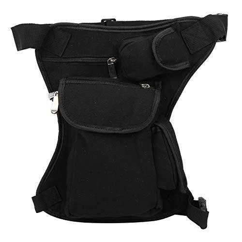 Mothinessto Paquete de Pierna de Viaje Bolsa de Cintura de práctica Cremallera Multifuncional para Montar para Escalar(Negro)