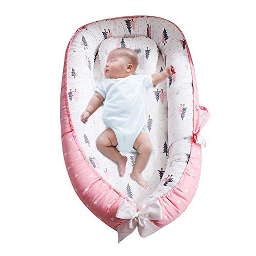 Big Save! Tawcal Baby Sleep Nest, Portable Newborn Sleeping Lounger Bed Pod Soft Breathable Cotton B...