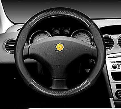 Coche Fundas Volante Cubierta Para Peugeot 308 207 208 206 3008 508 307 408 107 2008 4008 5008 508L, Protector Antideslizante Transpirable Duradera CóModa Mejor Agarre Auto Interna Accesorios