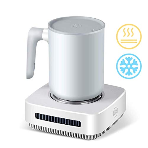 2 in 1 Warmer and Cooler Cup, Coffee Warmer Desktop, 31℉ - 46℉ Coffee Tea Drinks Mug Warmer Cooler Desktop Heating and Cooling Beverage Plate For Water,Milk,Beer,Cocoa
