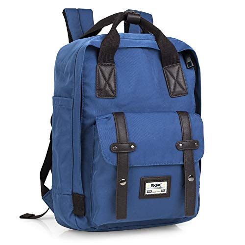 SKPAT - Backpack with 15' Laptop Compartment. 2 Upper Handles and Adjustable Padded Straps. Main comparment with Zipper. Front Pocket with Flap. 305536, Color Blue