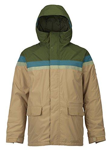 Burton Herren Docket Jacket Snowboardjacke, Rifle Green/Jasper/Olive Branch Distress/Kelp, M
