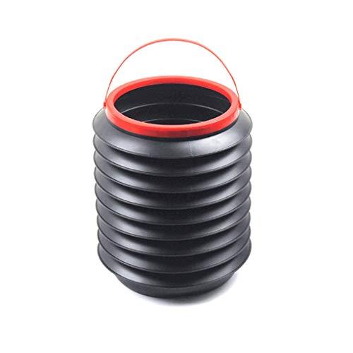 NYKK Papeleras Cubo de Basura Plegable para automóvil Redondo sin Tapa Cubo de Pesca Exterior Cubo de escombros 4L