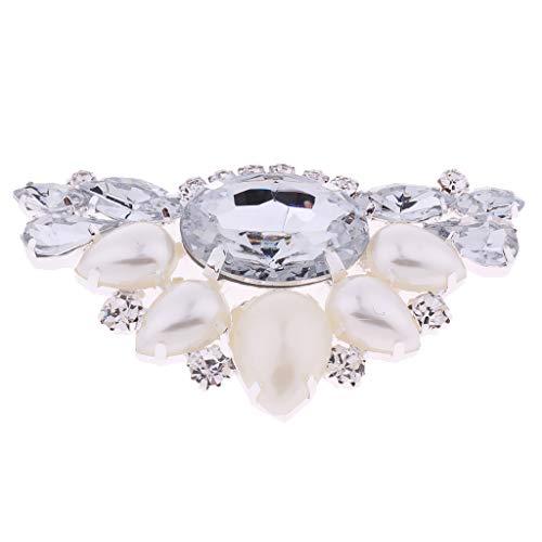 Clip de Zapatos con Diamantes Artificiales Triangular Hebilla de Encanto para Calzado...