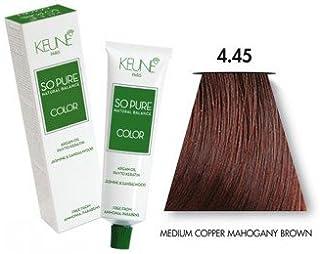 Keune So Pure Permanent Hair Color PPD and Ammonia Free (4.45 Medium Copper Mahogany Brown