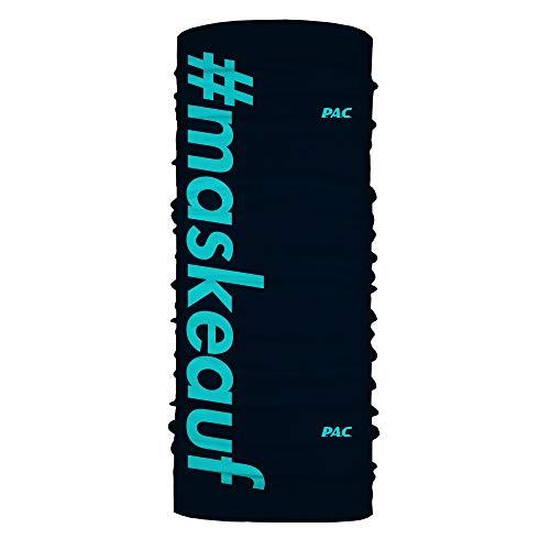 P.A.C. Mund-Nasen-Maske - Schlauchtuch, Schal, Kopftuch, Stirnband, verschiedenste Designs, Unisex, 10 Tragevarianten