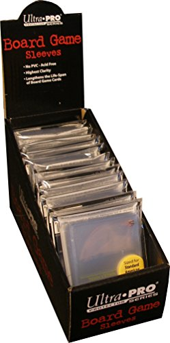Standard American Board Game Sized Sleeves - Clear (12 Packs of 50)