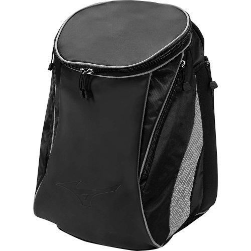 Mizuno Elite Field Backpack, 20 x 14 x 9-Inch, Black/Grey