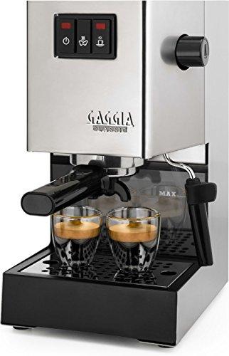 Gaggia Siebträger Espressomaschine, Dampfdüse, Edelstahl