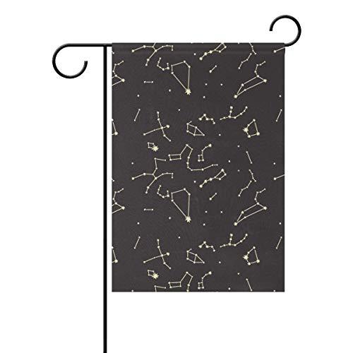 Liebe Universum Raum Stern Galaxie Sternbilder Gartenhaus Doppelseitig für Rasen Rasen Dekor Garten Flagge Banner im Freien