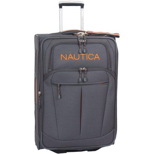 Nautica 28' Expandable Spinner Luggage, Grey/orange