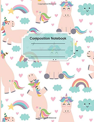 Composition Notebook: Nifty Wide Ruled Paper Notebook Journal | Unicorn Wide Blank Lined Workbook for Teens Kids Students Girls for Home School