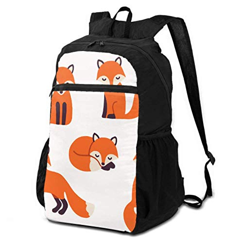 JOCHUAN Daypack Travel Backpack Funny Forest Animal Fox Rabbit Bear Backpack Hiking Daypack Travel Foldable Daypack Lightweight Waterproof for Men & Womentravel Camping Outdoor