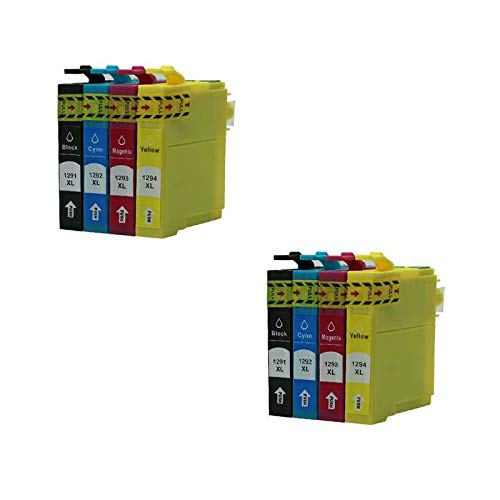 ZYL - Cartuchos de tinta compatibles para Epson T1295 T1291-T1294 Stylus Office B42WD BX305F BX305FW BX305FW Plus BX320FW BX525WD BX535WD BX625FWD BX630FW BX635FWD BX925FWD BX935FWD SX235W SX230 SX230 SX230, SX230, SX230, SX230, 8 x (2 unidades)