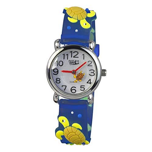 Tee-Wee Kinder Uhr 27mm Analog Schildkröte Armband türkis Kautschuk D1UW925T Quarzuhr von Tee-Wee für Kinder