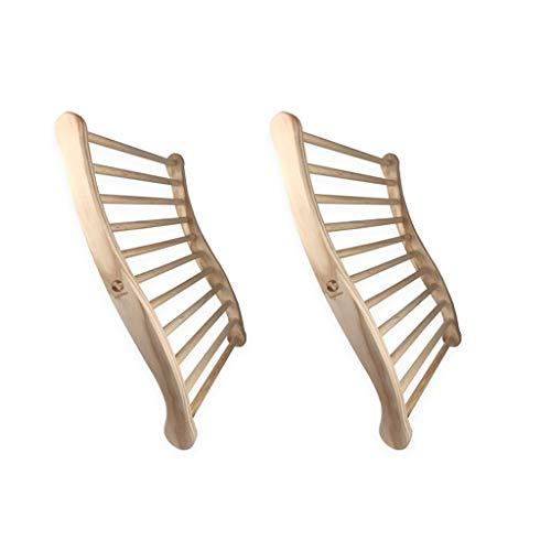 SudoreWell® Sauna Rückenlehne - 2-seitig ergonomisch geformt - 2 Stück