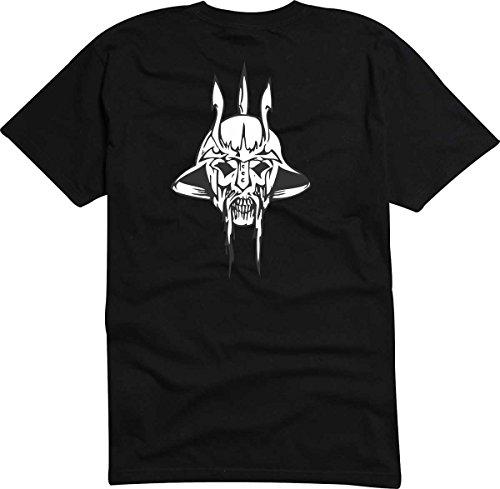 Black Dragon - T-Shirt D539 T-Shirt Herren schwarz XL - Design Tribal Comic - abstrakte Retro Grafik - Totenkopf Monster im Asia - Style - Fasching Party Geschenk Funshirt