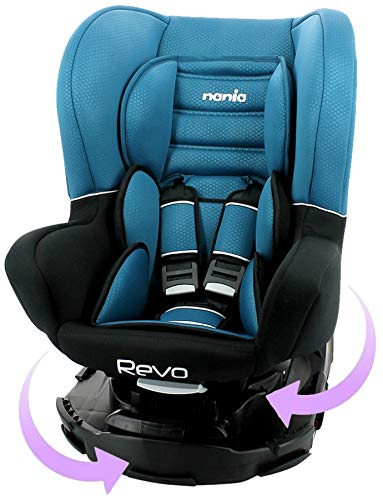 Nania Revo SP Kindersitz 0-25 kg, 360º drehbar, grau ECE R44 Prüfsiegel, blau ET277045X1