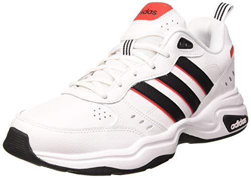 adidas Herren Strutter Sneaker, Cloud White/Core Black/Active Red, 42 2/3 EU
