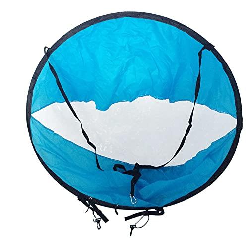 FHXY Downwind vela Kayak especial vela 118 cm azul vela portátil plegable vela redonda kayak canoa paleta vela vela vela