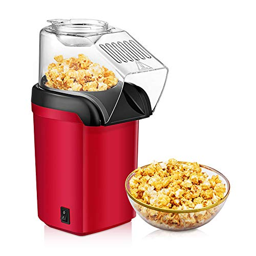 Affordable 1200W Fast Popcorn Machine/Hot Air Popcorn Popper with Wide Mouth Design, Oil-free, Ideal...