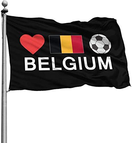 N/A België Voetbal België Voetbal Duurzame Tuinvlaggen Seizoensgebonden Home Decoratief voor Binnen & Buiten (4x6 Ft)