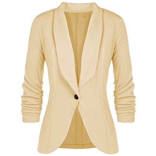 YUPENG Damen Blazer Damen Casual Mode Tailliert Einfarbig und Blumendruck Slim Fit...