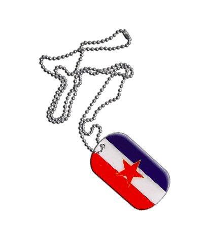 Dog Tag / Erkennungsmarke / Kette Jugoslawien alt - 3 x 5 cm