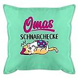Oma Kissen - Omas Schnarchecke - schwarz