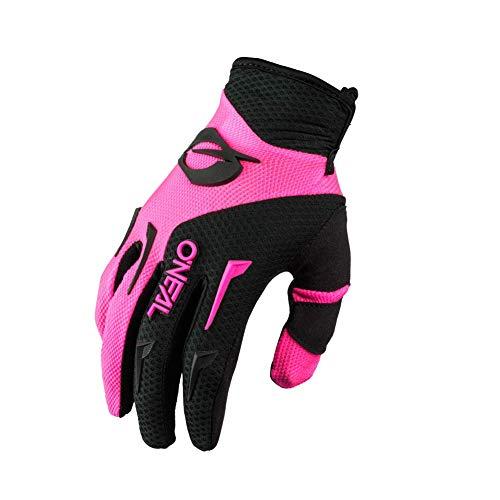 O'NEAL | Fahrrad- & Motocross-Handschuhe | MX MTB DH FR Downhill Freeride | Langlebige, Flexible Materialien, belüftete Handinnenfäche | Element Glove | Frauen | Schwarz Pink | Größe S