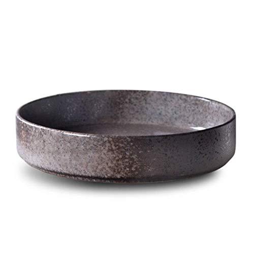 Cuenco de la cultura popular Tazón redondo de cerámica Tazón de sopa Tazón de fuente Tazón de arroz Tazón grande Tazón occidental Ensaladera Plato Vajilla doméstica cuenco de la cultura popular