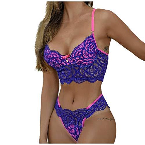 manadlian Damen Unterwäsche Spitze Bustier Reizwäsche Büstenhalter Bra Push Up BH Sommer Sexy Erotisch Underwear Frauen Lingerie Dessous Frau Nachtwäsche für Sex