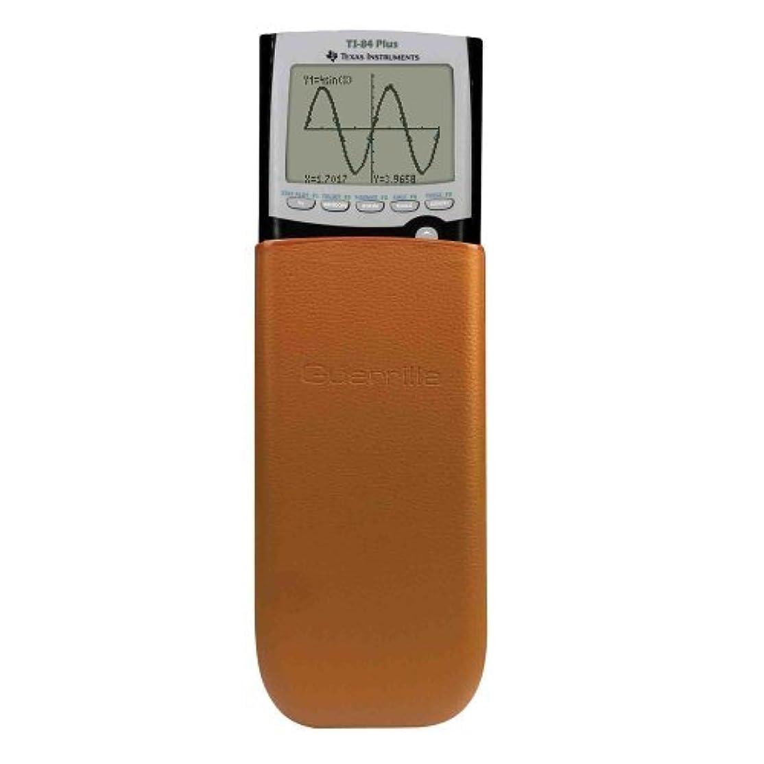 プロフィール誤解を招く薄めるGuerrilla Leather Hard Slide Case-Cover for TI-84 Plus TI 84-Plus C Silver Edition TI-89 Titanium Graphing Calculator Brown [並行輸入品]