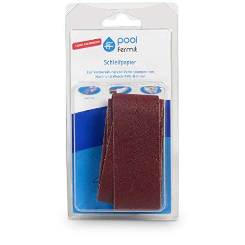 pool fermit Schleifpapier 120er Körnung elastische und starre PVC-Rohre und Fittings