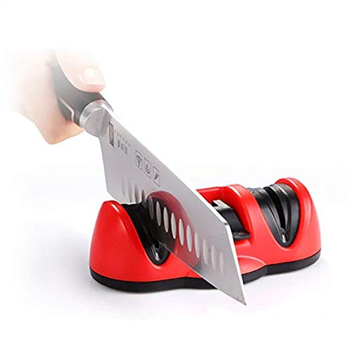 Couteau de cuisine Sharpener, ustensiles de cuisine Affûteur for couteaux en acier droites avec Ventouse Coupe du système 2-Stage sûr et facile à utiliser Convient for la restauration et des lames pol