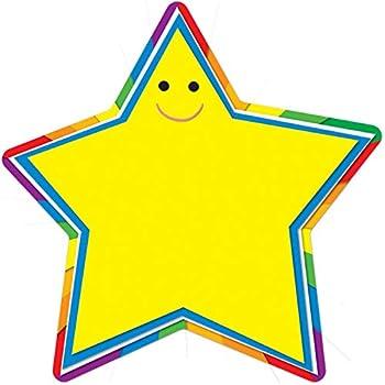 Carson Dellosa – Star Colorful Cut-Outs Classroom Décor 36 Pieces